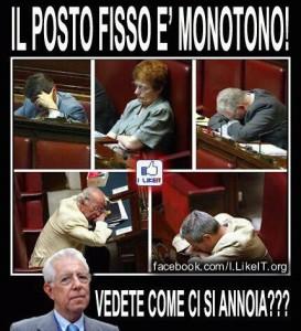 E' questa la monotonia del posto fisso segnalata dal prof.Monti