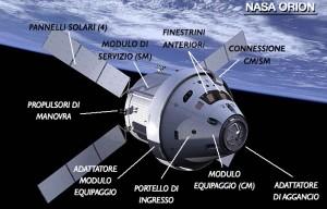 La capsula Orion della NASA