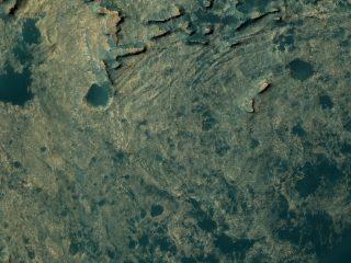Una parte del percorso svolto dalla sonda Curiosity su Marte